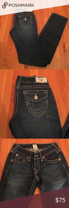 "True religion jeans True religion Julie jeans. 34"" inseam. 83% cotton 16% polyester 1% spandex. Excellent condition True Religion Jeans"