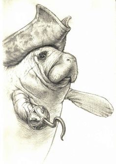 manatee pirate! haha I didnt know where to put this so yea, just stuck it in my random geek area. :)