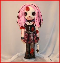 OOAK Hand Stitched Zombie Horror Doll Creepy by TatteredRags, $140.00 my favourite doll maker TatteredRags by Jodi Cain!