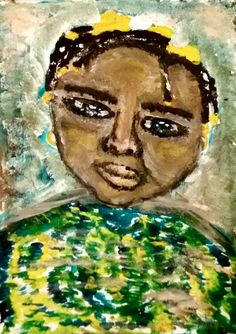 the brasilian ORCI PAININGS green , yellow, child