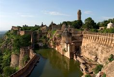 Chittorgarh fort in Rajasthan, India.