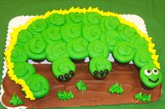 Dinosaur Flat cupcake display