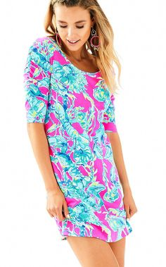 913e1e692d9 Lilly Pulitzer Lajolla Dress - Raz Berry Lobsters In Love XS Gold