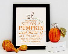 Fall Decoration Print  Autumn Home Decor  by PunkalunkPrintables