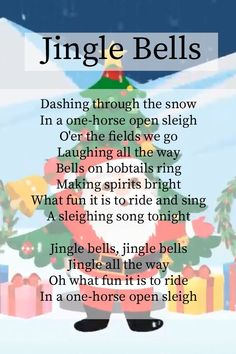 Lyrics to Jingle Bells. For more Christmas Carol Videos for Children, do check out our channel. Songs For Toddlers, Rhymes For Kids, Kids Songs, Free Nursery Rhymes, Nursery Rhymes Lyrics, Christmas Carols For Kids, Christmas Jingles, Christmas Songs Lyrics, Christmas Concert