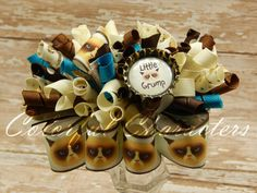 Grumpy Cat Funky Loopy Bow by ColorfulCharacters on Etsy