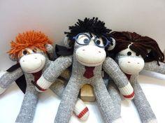 Harry Potter sock monkeys <3