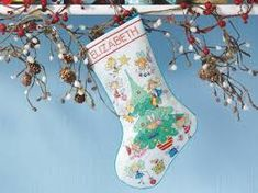 Resultado de imagen para free cross stitch christmas stocking patterns
