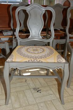 Annie Sloan Chalk Paint, French Linen with Graphite wash, clear and dark wax.