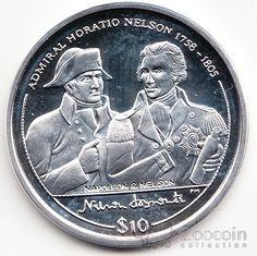 Брит. Виргинские острова 10 долларов 2005 Наполеон и Нельсон