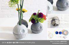 HomeMade Modern DIY EP22 The Death Star Vase $14 + Stormtrooper Wall Pegs/Drawer Pulls #kids #diy #make #gifts #christmas