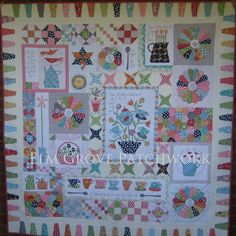 Gossip in the Garden quilt pattern at Hatched and Patched