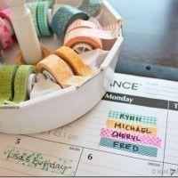 Organize with Washi Tape!