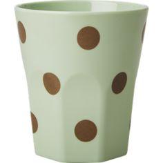 Melamin prickig kopp pastell grön