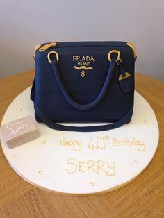 Novelty Prada Bag Cake, with fondant model of Christian Louboutin shoe box.