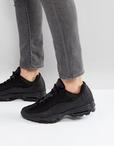 new arrival fce5e adbfb Nike Air Max 95 Ultra Essential Trainers In Black 857910-012