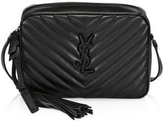 Get the trendiest Cross Body Bag of the season! The Saint Laurent Monogram Lou Camera Black Leather Cross Body Bag is a top 10 member favorite on Tradesy. Leather Camera Bag, Black Leather Crossbody Bag, Leather Backpack, Ysl Crossbody Bag, Ysl Bag, Ysl Handbags, Luxury Handbags, Yves Saint Laurent Bags, Womens Slippers