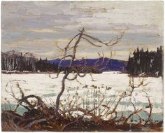 Tom Thomson Catalogue Raisonné | Spring Ice, Canoe Lake, Spring 1915 (1915.12) | Catalogue entry