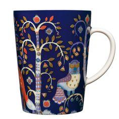 Taika muki l, sininen tai punainen Blue Dinnerware, Casual Dinnerware, Porcelain Mugs, Espresso Cups, Cappuccino Cups, Joss And Main, Folklore, Decorative Items, Tea Pots