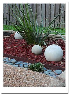 how to create cement yard decor