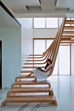 Cusina Modern interior stairs made of wood and steel that take your breath away Architectural Design breath Cusina home Architectural Design Interior Modern stairs steel wood Interior Staircase, Staircase Design, Stair Design, Spiral Staircase, White Staircase, Staircases, Staircase Ideas, Railing Ideas, Stair Railing