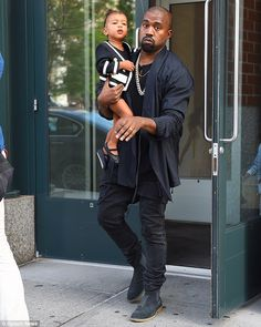 Handful:They will welcome their second child in five months but Kim and Kanye already have their hands full with daughter North