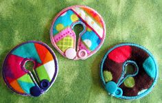 Multi Color Belly Dots Button Cover Set for GTube by aHaDesigns2, $5.00