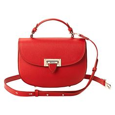 9b496c31c7ce ASPINAL OF LONDON Letterbox leather saddle bag (Berry Leather Saddle Bags