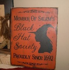 wiccan halloween decorations hat society primitive handpainted wiccan wood sign plaque new