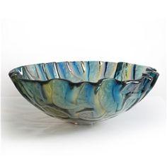 (EU Lager)Modern Glas Waschbecken Rund Design