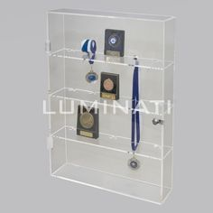 Wall Mounted Display Case Shelf, Made From Clear Acrylic. Designed And  Manufactured In The UK