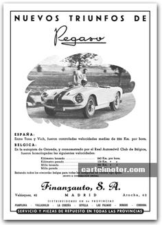 1953 - PEGASO Z-102 STC RECORD JABBEKE Mini Trucks, All Cars, Vintage Ads, Cars And Motorcycles, Classic Cars, Spanish, Nostalgia, Copywriting, Retro