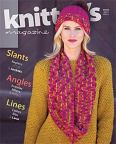 Featuring: An article about a Record Breaking Marathon Scarf Designs by Kathy Zimmerman, Rick Mondragon, Cheryl Beckerich, Lisa Jacobs, Diane Crochet Book Cover, Crochet Books, Knit Crochet, Crochet Hats, Knitting Magazine, Crochet Magazine, Knitting Machine Patterns, Knit Patterns, Knitting Books