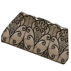 Black Lace Clutch Wedding Holiday Ready to Ship by Upstyle on Etsy, $125.00
