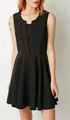 Stylish Scoop Neck Sleeveless A-Line Dress For Women Business Casual Dresses, Stylish Dresses, Casual Dresses For Women, Dresses For Work, Cool Outfits, Summer Outfits, Summer Dresses, Couture, Beautiful Dresses