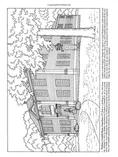 History Coloring Pages for Adults Luxury Historic Houses Of New England Coloring Book Dover Lion Coloring Pages, Coloring Pages To Print, Printable Coloring Pages, Coloring Books, Color Optical Illusions, Drawing Scenery, Teaching Drawing, Historic Houses, Colour Images