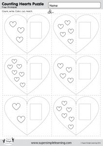 Counting Hearts Puzzle | Super Simple