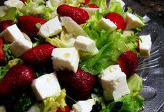 Receta de ensalada de lechuga y fresas | Recetas para niños