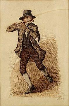 an Irish flute player