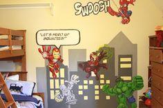 Super Hero Squad Room Scene