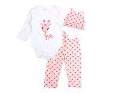 3PCS Baby Cotton Romper Set Infant Newborn Boys Girls Cartoon Animal Costume Clothing Sets Cute Jumpsuit +Hat+Pants Barboteuse! Wholesale Jewelry #Importexpress #chinawholesale