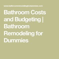 Bathroom Remodeling For Dummies bathroom remodel checklist template - google search | new home