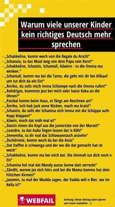 Waurm viele unserer Kinder kein richtiges Deutsch mehr sprechen
