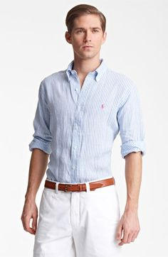 Polo Ralph Lauren Classic Fit Linen Sport Shirt available at Nordstrom