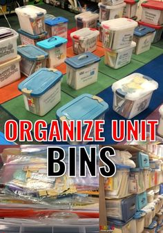 Classroom Clean~Up {Organizing my Unit Bins} - Sharing Kindergarten