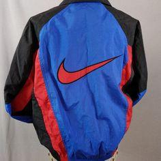 efc3199d9dbf Nike Big Swoosh Colorblock Windbreaker Jacket RCA Tennis Tournament Vtg 90s  Med  Nike  Casual