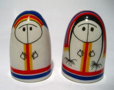 salt and pepper shakers, arabia finland