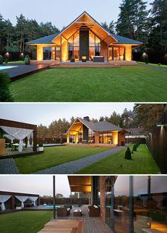 Luxus Chalet Design - von YOD Design Lab Sie sind an der rich. Chalet Design, Metal Building Homes, Building A House, Small Cottage Homes, Cottage House, Dream House Exterior, Modern House Design, Design Lab, Blog Design