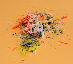 fun art for kids, melted crayon shavings