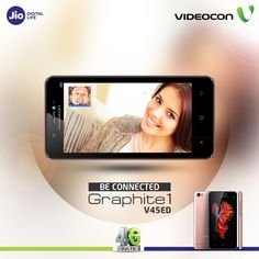 Now always stay connected to your loved ones with superior video call quality on #Videocon Graphite 1 V45ED. Know more: http://www.videoconmobiles.com/graphite1-v45ed